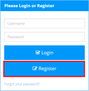 click the button on the login form